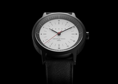 """Amiral"", watch designed for Vasco. Black and silver dial finish."